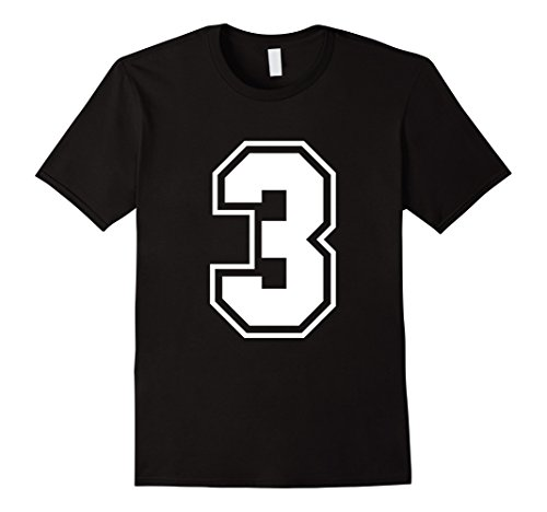 [Men's Number 3 T-Shirt - More Colors Letters & Numbers Available 2XL Black] (College Girls Group Halloween Costumes)