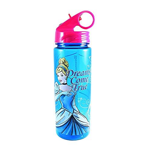 Bottle Drink Princess - Silver Buffalo DQ7764 Disney Princess Cinderella Dreams Come True Tritan Water Bottle, 20-Ounces