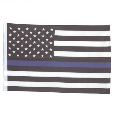 SMF Small 12 Inch X 20 Inch Replacement Flag For Whip Antenna Thin Blue Line Police Support