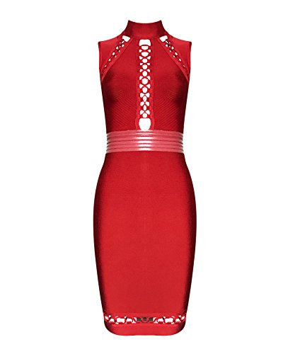 Red Leather Dress - 8