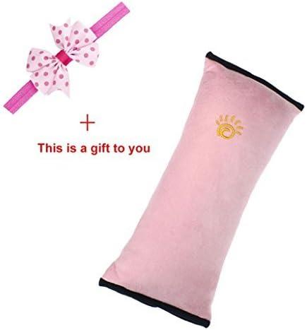 KAMOKU101/Kids Kids cinture di sicurezza seggiolino auto cuscino proteggere spalla testa Protectiat Cushiat Bedding rosa