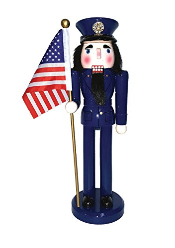 Santa's Workshop 70546 Air Force Nutcracker with Flag, 14