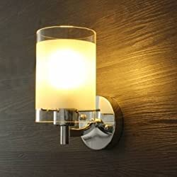 Modern Simple Glass Single Head Wall Lamp Sconce Light Fitting Walkway Indoor Lighting