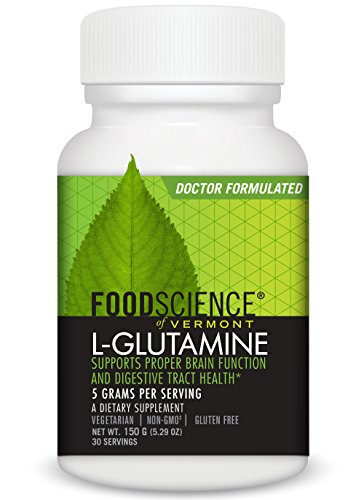 FoodScience of Vermont L-Glutamine Powder 5000 Mg Serving, 150 Gram by FoodScience of Vermont