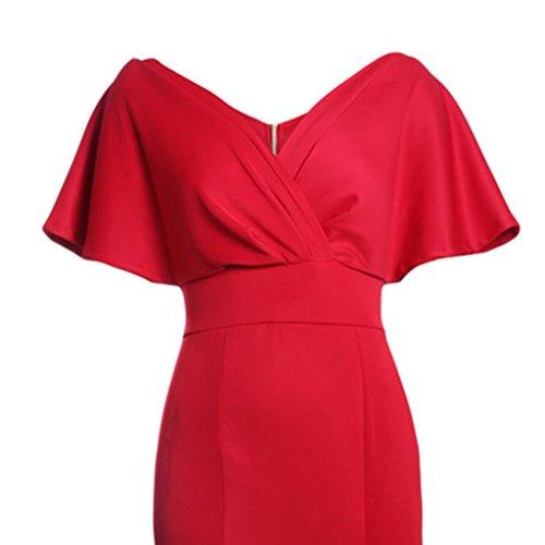 Magideal rojo Honor Noche Ropa Maxi Vestido Formal Formal Fiesta Mujeres Boda Noche Dama de Especializada s Cóctel de 1qr1za