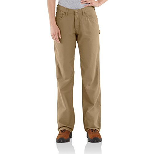 (Carhartt Flame Resistant Golden Khaki Relaxed Fit Canvas Jeans WFRB159GKH-10x28 )
