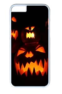 Halloween Pumpkins PC Case Cover For HTC One M7 and White