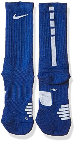Nike Elite Basketball Crew Socks Game Royal/White Size Medium (Cheap Blue Nike Socks)