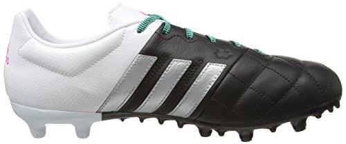 adidas Ace 15.3 Fg/Ag Leather, Botas de Fútbol para Hombre Negro / Plateado / Blanco (Negbas / Plamat / Ftwbla)