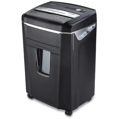 0XA 14-Sheet Crosscut-Cut Paper / CD / Credit Card Shredder with Pull-Out Wastebasket ()