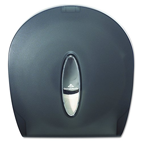 Georgia-Pacific GP 59009 Translucent Smoke Jumbo Jr. Bathroom Tissue Dispenser, 10.61