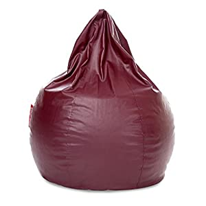 Nexis Sundry XXL Maroon Indoor/Outdoor Bean Bag Chair Cover: Large Leatherette Furniture Bean Bag Cover without Filers