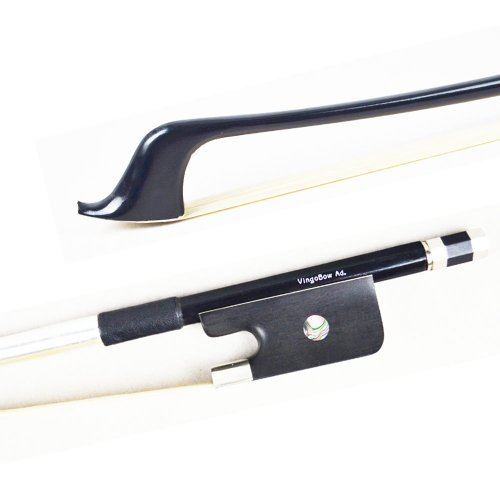 VingoBow 4/4 Size French Standard Carbon Fiber Double Bass Bow 72CM! High Density Ebony Frog and Premier Unbleached Mongolia Horse Hair, Art No.100BF