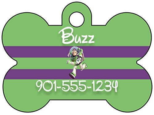 Disney Toy Story Buzz Lightyear Dog Tag Pet Tag Id Personalized w/ Name & Number