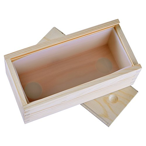 Small Rectangle Silicone Soap Mold with Wooden Box DIY Handmade Loaf Mould