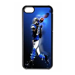Yearinspace Calvin Johnson IPhone 5C Cases Calvin Johnson Move As Fast As Wind Blows For Girls, Iphone 5c Cases For Girls Protective, {Black} hjbrhga1544