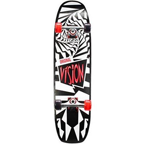 Vision Skateboard Hybrid Complete 31 X 8.25 Inch 7 Ply NE Maple Deck Double Kicktail Skate Board (OG Spiral) - Kicktail Skateboard Deck