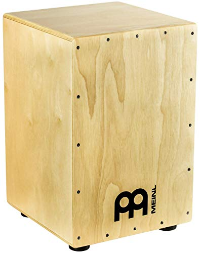 Meinl Cajon Box Drum with Internal Metal Strings for Adjustable Snare Effect-NOT Made in China-Hardwood Full Size, 2-Year Warranty, (HCAJ1NT)