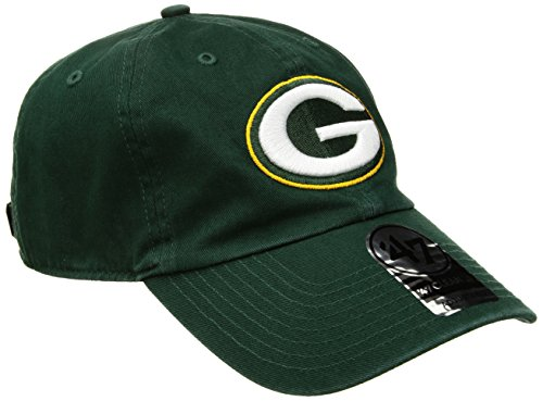 NFL Green Bay Packers '47 Clean Up Adjustable Hat, Dark Green, One Size - Green Bay Womens Hat
