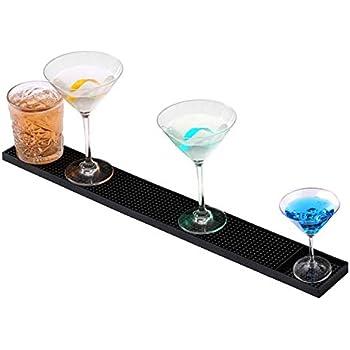Amazon.com: Rubber Bar Spill Mat, Non-Slip No-Spill Drink ...