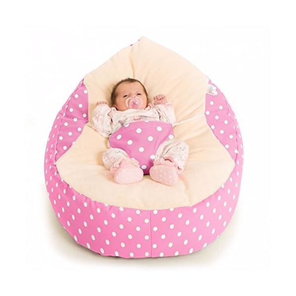 Luxury Cuddle Soft Polka Dot Gaga Baby Bean bags
