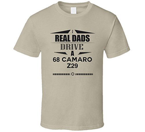 CarGeekTees.com Real Dads Drive a 68 Camaro Z29 Father's Day T Shirt 2XL Tan (Camaro Z29 compare prices)