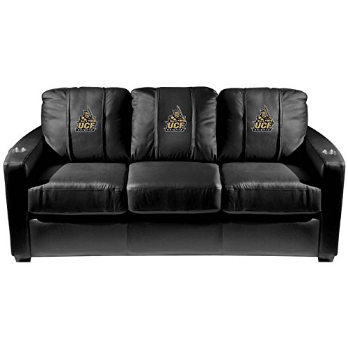 XZipit College Silver Sofa with Central Florida Knights Logo Panel, Black