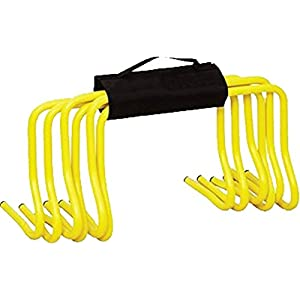 "Soccer Football Speed Agility Training 6"" Hurdles Set Of 6 With Carry Strap"
