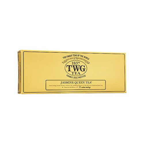 TWG Singapore - Luxury Teas - JASMINE QUEEN GREEN TEA - 15 Hand sewn pure cotton tea bags ()