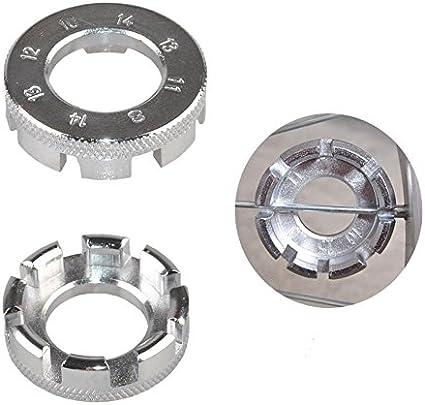 Cisixin Bicycle spoke wrench 8-Way Plate 10-15 Gauge Bicycle Wheel Spanner Wrench Adjust Repair Tool