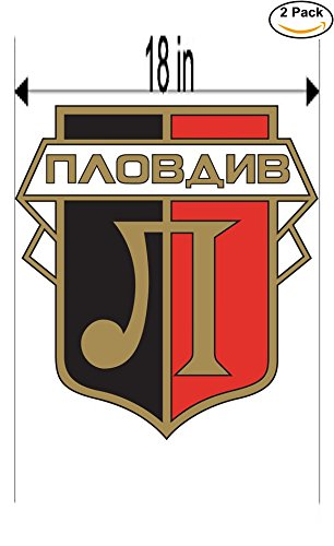 fan products of FC Lokomotiv Plovdiv Bulgaria Soccer Football Club FC 2 Stickers Car Bumper Window Sticker Decal Huge 18 inches