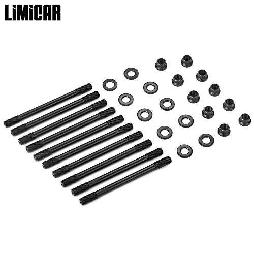 LIMICAR Cylinder Head Stud with 12-Point Nuts 218-4701 For 1989-2005 Mazda Miata 2-Door 1.6L B6 1.8L BP