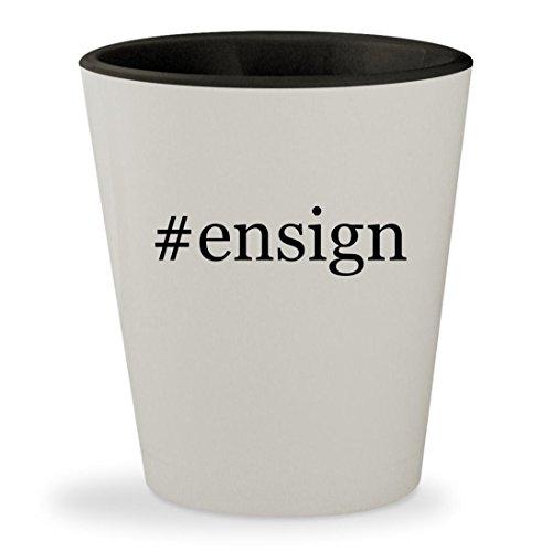 Ensign   Hashtag White Outer   Black Inner Ceramic 1 5Oz Shot Glass