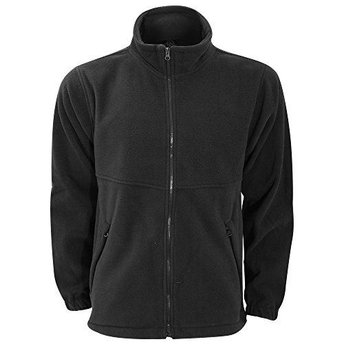 Ultimate Clothing Unisex Full Zip Fleece Top (3XL) (Black)
