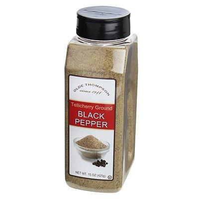 herry Ground Black Pepper (15 oz shaker) (Tellicherry Black Pepper)