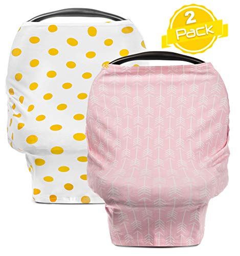 Car Seat Canopy Covers for Boys & Girls | Gold Dots -
