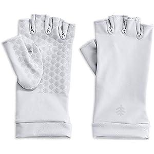 Coolibar UPF 50+ Men's Women's Ouray UV Fingerless Sun Gloves – Sun Protective