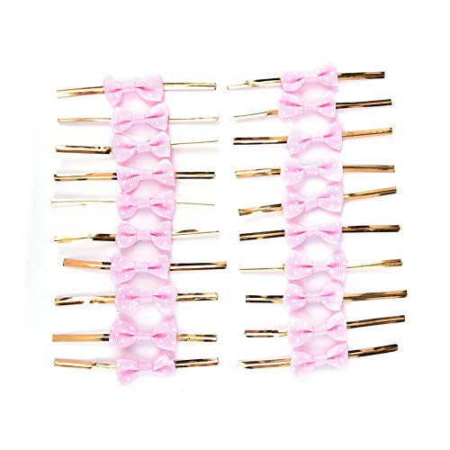 NUOMI Bowknot Metallic Twist Ties Wire for Candy Cookie Cake Bag (pack of 60) (Pink) ()