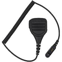 KENMAX Waterproof Rainproof Shoulder Remote Speaker Mic Microphone with Headphone Jack for Walkie Talkie Motorola DEP550 DEP570 Tetra MTP3200 Tetra MTP3250 XIR P6600