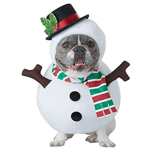 Snowman Dog Costume Cute Halloween Dog Costume Fashion Cosplay Dress for Puppy Small Medium Large Dogs Special Events Funny Photo Props Accessories -