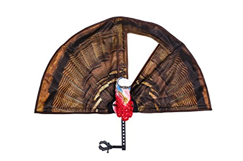 Turkey Reapers THE TOMINATOR 3 IN 1 Turkey Decoy, Bow and Gun Mount, Ground Stake, 3D Head, Photo Realistic Strutting Fan, and Free DVD