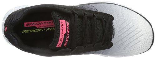 Skechers Flex Appeal - Zapatillas, Mujer Blanco (Weiß (Wbk))