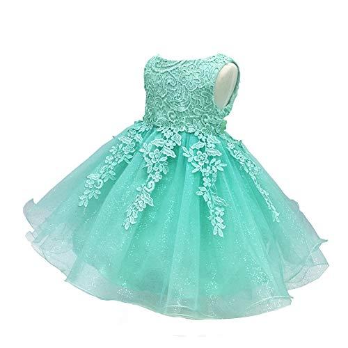 LZH Baby Girls Birthday Christening Dress Baptism Wedding Party Flower Dress (5801-Green,24M) (24m Green)