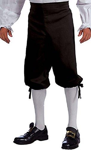 Forum Novelties 68733 Unisex Adult Black Pirate Renaissance Colonial Knickers, X-Large, Multicolor