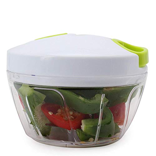 Arc Shaped Blade Manual Food Chopper Compact & Hand Held Vegetable Dicer,  Mincer, Blender to Chop Fruits, Vegetables, Nuts, Herbs, Onions, Garlic for