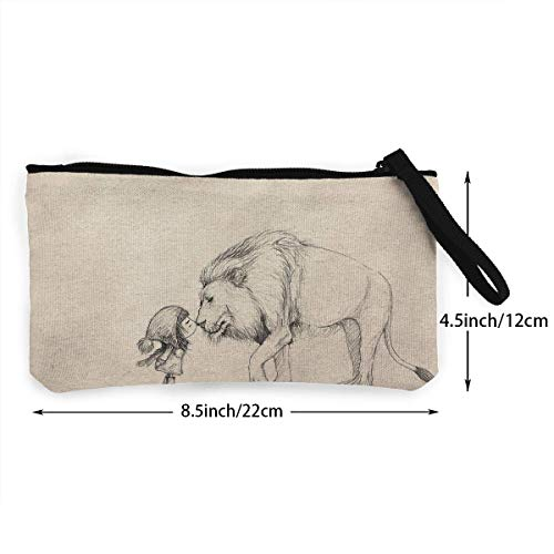 Canvas And 3d Fregrthtg Men Women Unisex For Drawing Aslan Wallets Print Pattern Lucy Coin Purse 5XSfqwfa