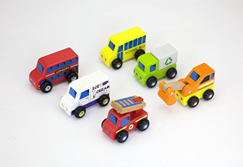 6 Piece Wooden Vehicle Set