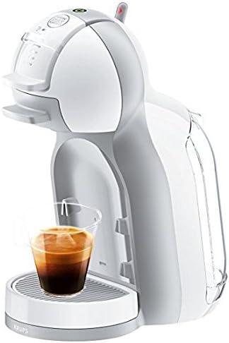 Pack Krups Dolce Gusto Mini Me KP1201 - Cafetera de cápsulas, 15 bares de presión, color blanco y gris ...