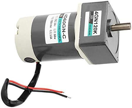 SSY-YU ホームアプリケーションIndusrialデバイス用ブラシ付きDCモーター、DC 24V 4.5A 60W 10-1000rpm 1.3kgf.cm CW/CCW変動金利永久磁石ギアモーター(120K) 電動工具用