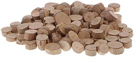 ナチュラル 木製 スライス クラフト 木片 家 テーブル 装飾小物 手作り ギフト 約100個入り